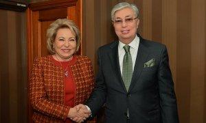 Председатель Сената Парламента РК К.Токаев посетил Москву