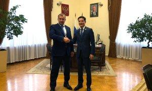 Консул РК в Астрахани Канат Шеккалиев встретился с врио губернатора Астраханской области Сергеем Морозовым